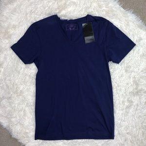 NWT Zara Men's Purple V-neck Basic Super Slim Fit